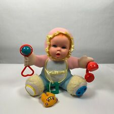 Vintage Gerber Plush Baby Doll with Rattles 1994 Activity Toy Biz 11 Inches