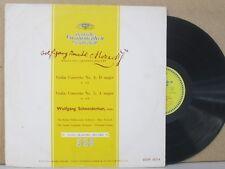 DGM 18 314- Wolfgang Schneiderhan Violin - Mozart Concerto No 4 & 5 LP DG VG+