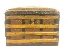 Piaget & Co. American Circa 1890 Scarce Painted Steamer Trunk Mint Condition.