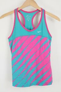 Nike Women's Dri-FIT Racerback Tank Size Small Blue Pink