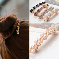 Fashion Crystal Pearl Hair Clip Hairband Comb Pin Barrette Hairpin Headdress
