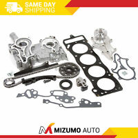 NEW TK10120TCWPOP HD Timing Chain Kit with Timing Cover 2 Heavy Duty Metal Guides /& Bolts Water Pump /& Oil Pump // 85-95 Toyota 2.4L 4Runner Pickup Celica SOHC 8-Valve Engine 22R 22RE 22REC