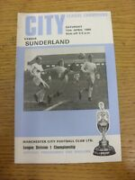 12/04/1969 Manchester City v Sunderland  (slight creased). Thanks for viewing th