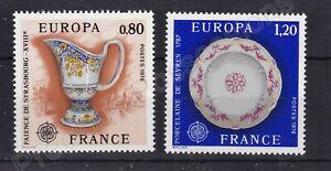 EUROPA MNH STAMP SET 1976 FRANCE CRAFTS SG 2124-2125