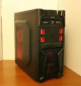 NEW Gaming PC Desktop Computer AMD QUAD CORE 4.2 GHz 500GB 8GB RAM WIN 10 WIFI
