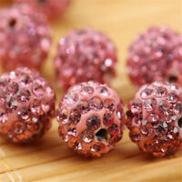 10mm Pink Clay Crystal Rhinestone Wholesale Shamballa Beads 100PCS Strand Multi