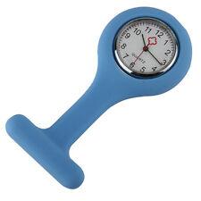 L Blue Silicone Nurse Brooch Tunic Fob Watch Nursing Nurses Pendant Pocket Watch