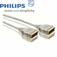 ORIGINALE Philips 5 M 24 KT 21-Pin PLACCATO ORO SPINA SCART A SCART Spina Cavo
