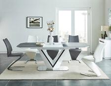 Design Esstisch Valerio mit hochglanz Standfuss anthrazit Tischplatte Esszimmer