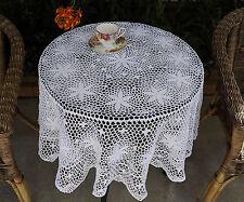 Cotton Hand Crochet Lace Doily Doilies Mat Topper Tablecloth Round 140CM White
