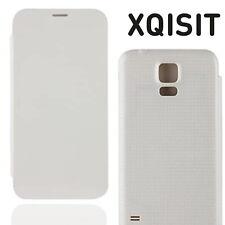 Xqisit Battery Flip Cover for Samsung Galaxy S5 Flip Slim Back Hard Cover White