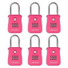 Lion Locks 1500 Key Storage Realtor Lock Box with Combination, (6 Pack , Pink)