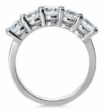 1.25 carat, 5 Round Diamond Ring Anniversary 14k Gold Band G color Si1 clarity