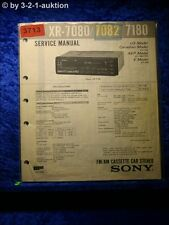 Sony Service Manual XR 7080 /7082 /7180 Car Stereo (#3713)