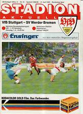 BL 89/90 VfB Stuttgart - SV Werder Bremen