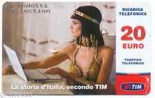 CLEOPATRA RICARICA TIM LA STORIA D'ITALIA SPOT PROMO TELEVISIVO 20 EURO