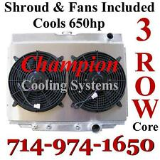 "3 Row Champion Radiator for 1968-1970 Ford Mercury Big Block With Two 12"" Fans"