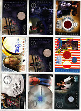TRADING CARDS:Planche N° 21      COSTUMES,AUTOGRAPHS  divers