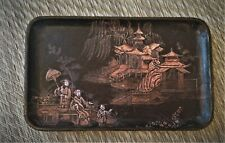 Chinoiserie paper/papier mache tray