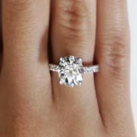 2.15 Carat Round Cut Diamond Engagement Ring VS2/D White Gold 14k 6261