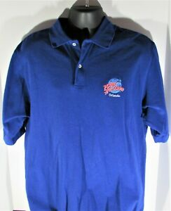 Planet Hollywood size XL Vintage 1991 Blue Logo Cotton Short Sleeve Polo Shirt