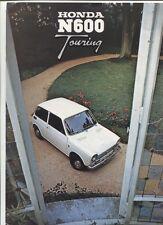 N°J.4008 /  HONDA N 600 Touring / dépliant en français 9/1972