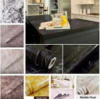 Marble Vinyl Film Wallpaper Sticker Bathroom Kitchen Wall Home Decors HOHOFILM