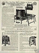 1924 PAPER AD Peerless Wringer Washer Washing Machine Water Motor & Hand Power