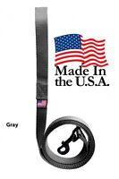 Dog Leash Lead Long Obedience Recall Training Tracker GRAY MADE IN THE USA