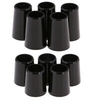10 Pack .370/.335 Black Golf Ferrules for Irons Wood Shafts Club Accessories