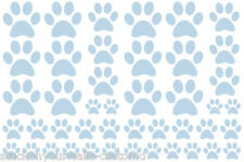 VINYL WALL DECALS STICKER POWDER BLUE PAW PRINTS-total 66 pieces DOG CAT ANIMAL