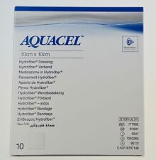 Aquacel Sterile Hydrofiber Dressing,10 x 10 cm, 10 Pieces