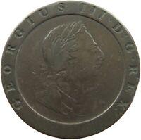 GREAT BRITAIN TWO PENCE 1797 CARTWHEEL #t138 695