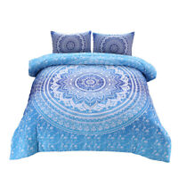 Bohemian Mandala Comforter Set Boho Quilt Pillowcase Sets Queen Size Bedding