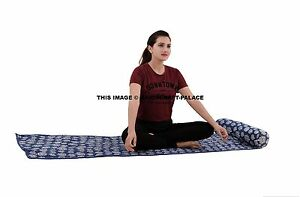 1PC Cotton Yoga Pilates Mat Sling Strap for Pilates Exercise Hand Print Indian