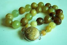 """Amazing Chinese Vintage Large Faceted Nephrite Jade Beads Necklace 137g  20"""" A"""