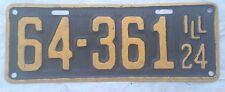 Illinois 1924 License Plates Dodge Chevy Ford Mopar YOM Cadillac 24 Rat Rod