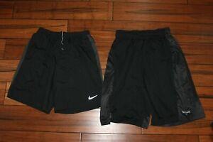 Mens Nike Dri Fit Lined Shorts Size Medium & Spalding Long Jersey Shorts medium