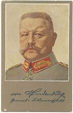 German WW1 Postcard Generalfeldmarschall Paul von Hindenburg Portrait 1915 (582)