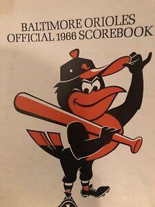 1966 Baltimore Orioles VS The Detroit Tigers Program