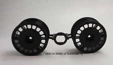 New Tamiya Black Front Wheels for 4wd RC Buggy 0440209 DF-03 Dark Impact 58370