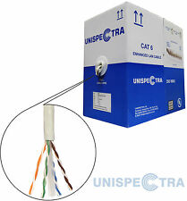 BRAND NEW ROLL OF 305m CAT6 UTP Solid Copper Reel Ethernet Network LAN Cable UK
