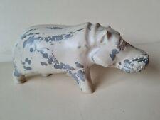 More details for carved stone hippo hippopotamus ornament 16.5cm long 6.5cm tall