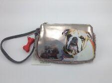 Girl's Silver London Bulldog Wristlet Clutch - MSRP $24 - 50% off
