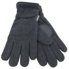 Herren Thinsulate Polar Fleece Winterhandschuhe Thermofutter Schwarz Grau M/L L