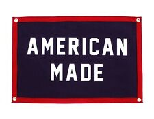 More details for american made camp flag - americana oxford pennant size 60cm x 40xm quality item