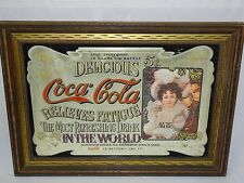 """43""""x31"""" FRAMED COCA COLA LARGE MIRROR PICTURE IN FRAME SIGN STORE ADVERTISEMENT"""