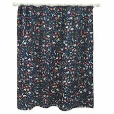 "Pillowfort Floral Festival Shower Curtain Fabric Navy / Multi New 72 X 72"""
