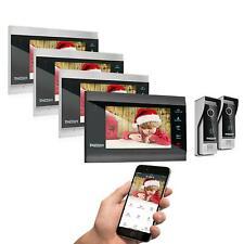 """TMEZON 1080P Wlan Video Türsprechanlage Gegensprechanlage mit 7"""" Monitor 4-Draht"""