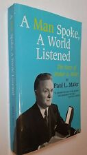 A Man Spoke, A World Listened by Paul Maier (Signed by Author, Pbk, 12th ed.)